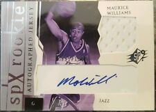 Maurice Williams Mo Cavs 2003-04 SPx Auto & Jersey Rookie Card rC #/1999 QTY