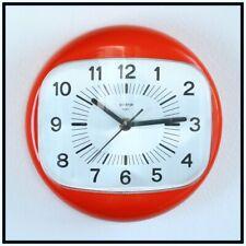 Vintage Space Age Wall Clock ORANGE Gorenje Mid Century Retro 70's Capsule