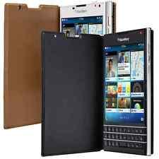 Genuine BlackBerry PASSPORT FLIP LEATHER CASE original smartphone book cover