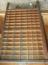 Genuine Vintage wooden LUDLOW letterpress printers tray,Art & Craft shadow box.*
