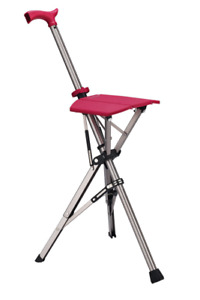 85cm Ta-Da Chair Folding Aluminium Tripod Cane Chair Portable Walking, Brand New