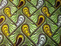 African Cotton Print Fabric Ankara Stunning Bright Bold Colors Sold Per Yard129