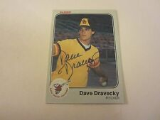 Dave Dravecky Autographed 1983 Fleer #356 ROOKIE Card MLB San Diego Padres