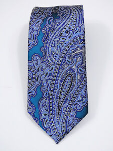 "NWT JOS A BANK SIGNATURE GOLD PAISLEY WOVEN GLOSS SILK TIE L 60"" X W 3 1/8"""