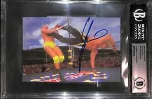Chris Jericho Signed 1998 Panini WCW NWO 4x6 Photo Rookie Card 87 BAS COA RC AEW