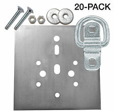Surface Mount D-Ring 6,000 lb.Cap Tiedown w/ Backing Plate Hardware Kits 20-Pack