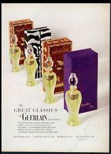 1962 Shalimar Vol de Nuit perfume half-oz bottle photo Guerlain print ad