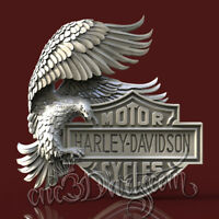 3D STL Model Harley Hawk for CNC Router Carving Machine Printer  Artcam aspire