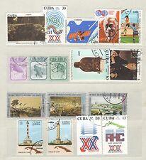 q7933 - CUBA - 1981 - LOTTI TEMATICI USATI N°2283/363 - VEDI FOTO