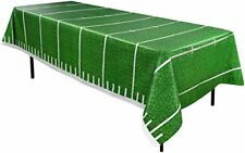 Football Table Cover Kids Adults Party Decorations Green Game Day