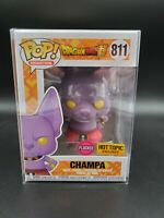 Funko Pop Dragon Ball Flocked Champa Hot Topic Exclusive+0.5mm Protector IN HAND
