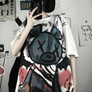 Fashion Gothic Harajuku Anime Print Eyepatch Punk Top T-Shirt For Girls