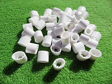 50 x WHITE SECURE BUCKLE CLIP,SELF GRIP - WRISTBANDS,LANYARDS,STRAPS 10mm