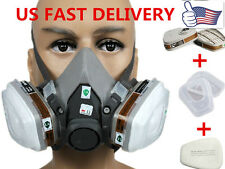 US For 3M 6200 6001 7 in 1 Suit Respirator Painting Spraying Face Gas Mask 5N11