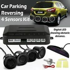 New 4 Sensors Car Parking Reverse Backup Radar Buzzer Sound Alert LED Kit System
