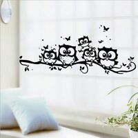 Kids Home Decor Removable Art Vinyl Decal Owl Cartoon Wall Sticker Nursery Room