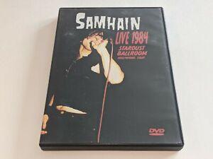SAMHAIN: LIVE 1984 STARDUST BALLROOM Hollywood, CA Concert/Music DVD Video PUNK
