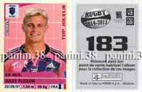 "RARE !! JULES PLISSON Sticker n°183 ""RUGBY 2014-2015"" Panini"