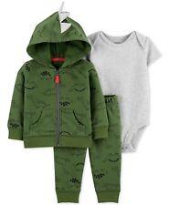 Carter's Baby Boys 3-Pc.  Dinosaur-Print Hoodie, Bodysuit & Pants Set MPRP $32