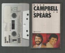 GIANTS OF COUNTRY Volume 1 - GLEN CAMPBELL & BILLIE JO SPEARS - UK CASSETTE TAPE