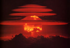 Hydrogen Bomb Poster, Nuclear Weapon, War, Explosion, Mushroom Cloud, H-Bomb