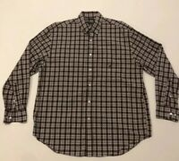 Large Nautica Long Sleeve Button Down Shirt With Multi Color Plaid
