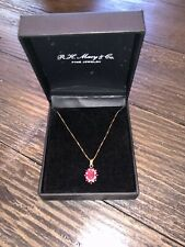 Ruby Necklace With 14k Yellow Gold Chain Macy & Co