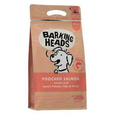 BARKING HEADS POOCHED SALMON DRY DOG FOOD 2KG SEALED NEW BAG