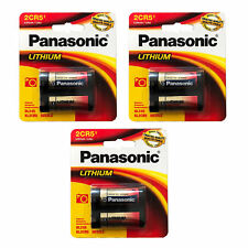 3x Panasonic 6V 2CR5 Photo Lithium Battery Replaces DL345, DL345A, EL2CR5, 2R5
