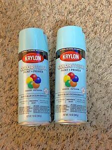 Krylon K05506007 COLORmaxx Spray Paint, Aerosol, Blue Ocean Breeze- 2 Pack