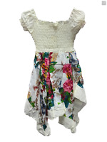 Girls Paisley Floral Hanky Handkerchief Hem Sun Dress Cap Sleeve Age 3-10 Years