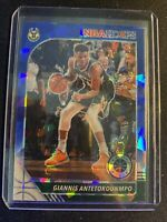 Giannis Antetokounmpo 2019 NBA Hoops Premium Stock Blue CRACKED ICE PRIZM MVP 🔥