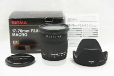 Sigma 17-70mm F2.8-4.5 Dc Macro Af Objectif Pour sony Minolta Alpha Support #