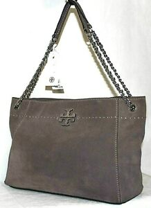 Tory Burch McGraw Suede Chain-Shoulder Slouchy Tote $498