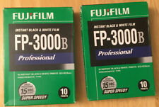 2 FUJIFILM FP-3000B 3.34 x 4.25 Inches Professional Instant Black and White Film