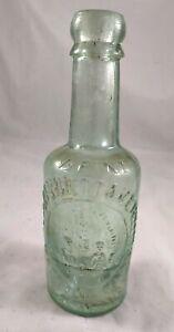 """Lovely Vintage - M. WHITTAKER Matlock Bath Pale Green Bottle 7.75"""" High"""