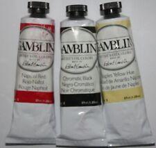 New listing 3 Gamblin Oil Paint's- Series 2-Chromatic Black, Napthol Red & Naples -37mL