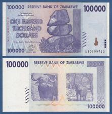 SIMBABWE / ZIMBABWE 100.000 Dollars 2008 ERROR  UNC  P.75