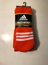 Adidas OTC Socks Multi-Sport (2-Pack) Orange,Medium, Climalite Compression