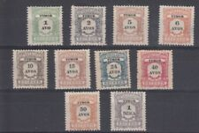 Timor 1904 postage due full set (SG D124-133) NO GUM as issued