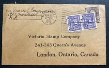 1935 Montreal Canada Postage Due Commercial Cover To London Canada