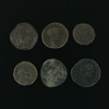 Ancient Coins Roman Artifacts Figural Mixed Lot of 6 B6247