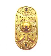 Oval Polished Brass Press Door Bell Button Antique Old Style Vintage Victorian