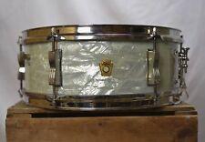 1961 Ludwig Pre-Serial 5x14 Pioneer White Marine Pearl Snare Drum