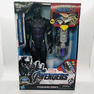 Marvel Avengers Black Panther Titan Hero Series Black Panther w Titan Power FX