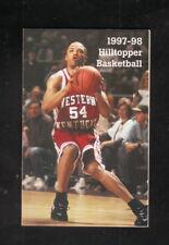 Western Kentucky Hilltoppers--1997-98 Basketball Pocket Schedule--Key Oil