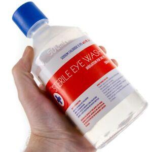500ml STERILE SALINE Eye Wound Wash Solution Bottle First Aid Eyewash Clean Out