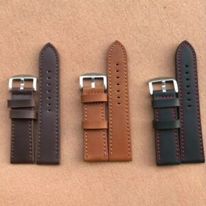 Extra Long Men 's Leather Watch Strap Stitching Design Band watch