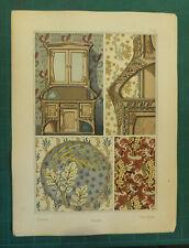 Navet lithographie Bourgeot art nouveau fin XIXe siècle Plantes Ornement Grasset