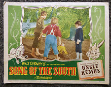 WALT DISNEY SONG OF THE SOUTH ORIGINAL 1946 LOBBY CARD #6 VERY RARE